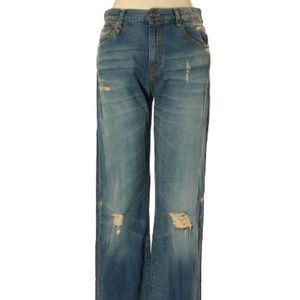 $400 R13 Distressed Denim Jeans size 28